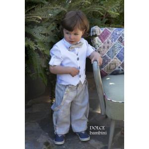 Ολοκληρωμένο πακέτο βάπτισηs με αυτό το κουστούμι (Dolce Bambini #2515-155#) Με βαλίτσα rain η παγκάκι θρανίο Δωρεάν μεταφορικά!