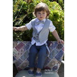 Ολοκληρωμένο πακέτο βάπτισηs με αυτό το κουστούμι (Dolce Bambini #2524-155#) Με βαλίτσα rain η παγκάκι θρανίο Δωρεάν μεταφορικά!
