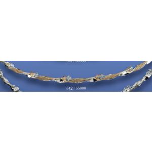 Στέφανα ασημένια με swarovski 542(55000)