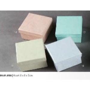 Κουτί Σαγρέ Μεταλλιζέ 8Χ8Χ5cm Rodia 39.01.22024(0.36)