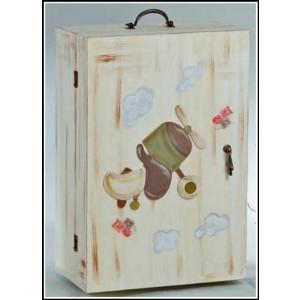 Κουτί ξύλινο ντουλάπα αεροπλάνο (Κωδ.Θ22-2)