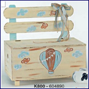 Ξύλινο παγκάκι αερόστατο (Κωδ.Κ800-1)