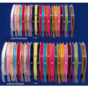 Κορδέλα οργάτζα σατέν palma 7mm(0220.09721)