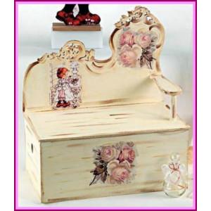 Κουτί ξύλινο παγκάκι sarah kay (Κωδ.Κ700-1)