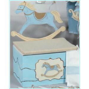 Παγκάκι ξύλινο αλογάκι καρουζέλ (Κωδ.Κ615-1)