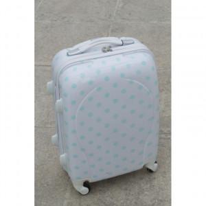 Βαλίτσα ταξιδίου μέντα πουά (Κωδ.ΒΑΛ14)