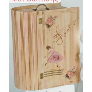 Κουτί ξύλινο ντουλάπα (Κωδ.Κ116-1)
