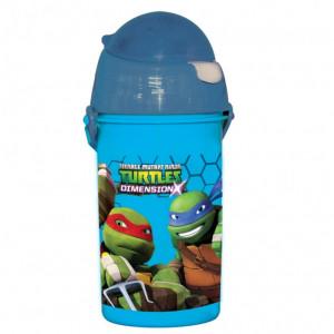 Πλαστικό Παγούρι Turtles Disney (Με καλαμάκι) (Κωδ.151.539.007)