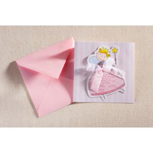 Προσκλητήριο Βάπτισης Πριγκίπισσα (Biniatian) (Κωδ.351-0186)