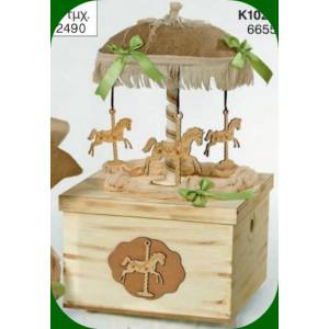Κουτί ξύλινο καρουσέλ (Κωδ.Κ1020Φ)