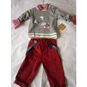 Μπλούζα Με Πουκάμισο Και Παντελόνι Μπεμπέ 360402 Trax
