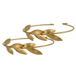 Βραχιόλια για λαμπάδες κεριών στολισμού γάμου Χρυσό στεφάνη ελιάς 46012 Η τιμή αφορά 2 Τεμάχια