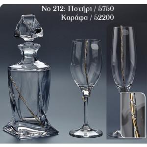 No 212.Τιμή καράφας:40€.Τιμή ποτήρι κρασιού:14€.Τιμή ποτήρι σαμπάνιας:14€