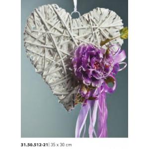 Καρδιά στολισμένη Φ35Χ30cm Rodia 31.50.512-21(13.50)