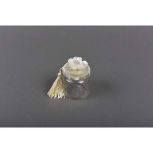 Μπομπονιέρα χειροποίητη βαζάκι (Κωδ.39.10.187-13-1.40) 100ml