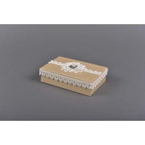 Μπομπονιέρα χειροποίητο κουτάκι(Κωδ.39.01.866-1.60) 16x11cm