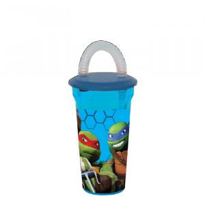 Πλαστικό Παγούρι Turtles Disney (Με καλαμάκι) (Κωδ.151.539.052)