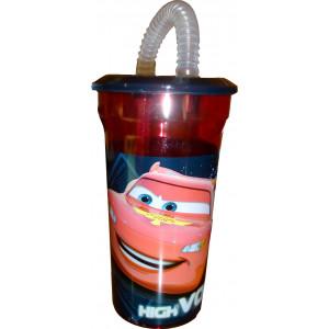 Πλαστικό Παγούρι Cars Disney (Με καλαμάκι) (Κωδ.387.539.055)