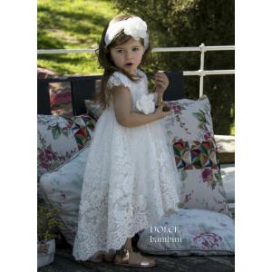 Ολοκληρωμένο πακέτο βάπτισηs με αυτό το Φόρεμα (Dolce Bambini #Κ401-1-210#) Με βαλίτσα rain η παγκάκι θρανίο Δωρεάν μεταφορικά