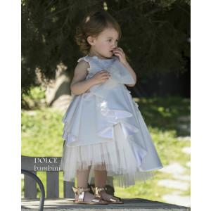 Ολοκληρωμένο πακέτο βάπτισηs με αυτό το Φόρεμα (Dolce Bambini #Κ402-1-200#) Με βαλίτσα rain η παγκάκι θρανίο Δωρεάν μεταφορικά