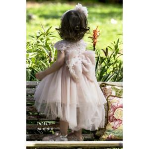 Ολοκληρωμένο πακέτο βάπτισηs με αυτό το Φόρεμα (Dolce Bambini #Κ405-8-190#) Με βαλίτσα rain η παγκάκι θρανίο Δωρεάν μεταφορικά