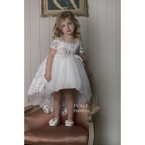 Ολοκληρωμένο πακέτο βάπτισηs με αυτό το Φόρεμα (Dolce Bambini #Κ406-1-190#) Με βαλίτσα rain η παγκάκι θρανίο Δωρεάν μεταφορικά
