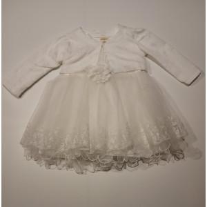 Φόρεμα Και Μπολερό Βρεφικό Εκρού 747.330.003