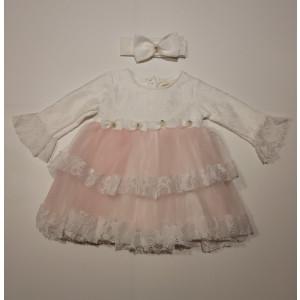 Φόρεμα Με Κορδέλα Βρεφικό Ροζ  747.330.006