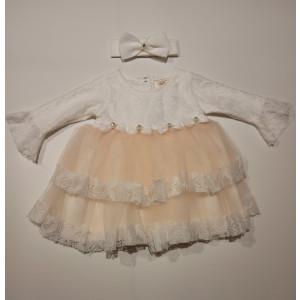 Φόρεμα Με Κορδέλα Βρεφικό Σομόν 747.330.006