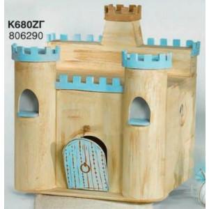 Ξύλινο κουτί κάστρο (Κ680ΛΜΖΓ)