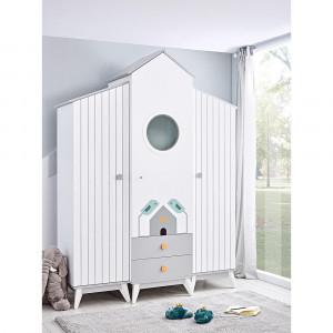 Παιδική ντουλάπα Bebe stars 3φυλλη (Bird House) 418-25