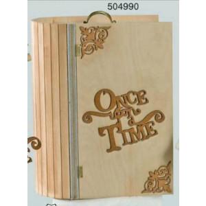 Ξύλινο κουτί  βιβλίο (ΛΤ01-1)