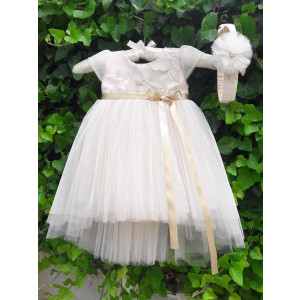 Ολοκληρωμένο πακέτο βάπτισηs με αυτό το φόρεμα (La christine Κωδ.18Κ4050) Με το κουτί Ζητήστε προσφορά!!!!!