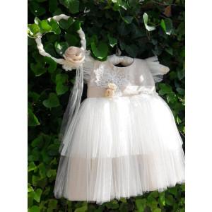 Ολοκληρωμένο πακέτο βάπτισηs με αυτό το φόρεμα (La christine Κωδ.18Κ4054) Mε το κουτί Ζητήστε προσφορά!!!!!