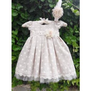 Ολοκληρωμένο πακέτο βάπτισηs με αυτό το φόρεμα (La christine Κωδ.18Κ4048) Mε το κουτί Ζητήστε προσφορά!!!!!