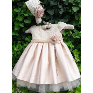 Ολοκληρωμένο πακέτο βάπτισηs με αυτό το φόρεμα (La christine Κωδ.18Κ4056) Mε το κουτί Ζητήστε προσφορά!!!!!