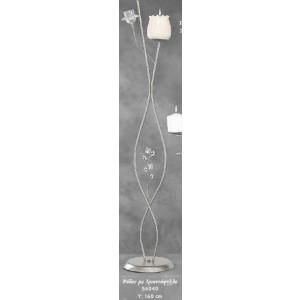 Λαμπάδα Φωτιστικό Ρόδος με Τριαντάφυλλο (Κωδ.56040) (Η τιμή αφορά 2 Τεμάχια)