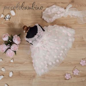 Ολοκληρωμένο πακέτο βάπτισηs με αυτό το φόρεμα (Picolo Bambino  Κωδ.275-44-146) (Με Βάλίτσα η παγκάκι θρανίο) Δωρεάν μεταφορικά!!