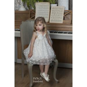 Ολοκληρωμένο πακέτο βάπτισηs με αυτό το Φόρεμα (Dolce Bambini #Κ452-5-135#) Με βαλίτσα rain η παγκάκι θρανίο Δωρεάν μεταφορικά