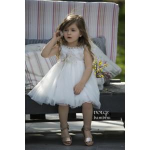 Ολοκληρωμένο πακέτο βάπτισηs με αυτό το Φόρεμα (Dolce Bambini #Κ454-1-140#) Με βαλίτσα rain η παγκάκι θρανίο Δωρεάν μεταφορικά