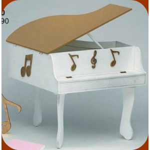 Κουτί ξύλινο πιάνο (Κωδ.Κ190-1)