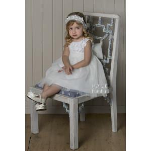 Ολοκληρωμένο πακέτο βάπτισηs με αυτό το Φόρεμα (Dolce Bambini #Κ466-1-150#) Με βαλίτσα rain η παγκάκι θρανίο Δωρεάν μεταφορικά