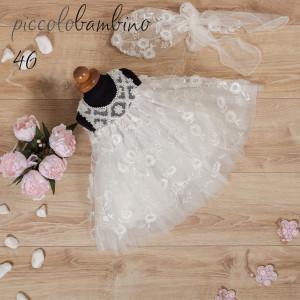 Ολοκληρωμένο πακέτο βάπτισηs με αυτό το φόρεμα (Picolo Bambino  Κωδ.279-46-150) (Με Βάλίτσα η παγκάκι θρανίο) Δωρεάν μεταφορικά!!