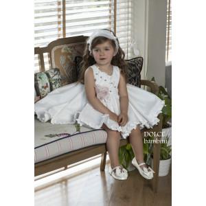 Ολοκληρωμένο πακέτο βάπτισηs με αυτό το Φόρεμα (Dolce Bambini #Κ476-1-180#) Με βαλίτσα rain η παγκάκι θρανίο!