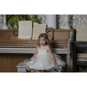 Ολοκληρωμένο πακέτο βάπτισηs με αυτό το Φόρεμα (Dolce Bambini #Κ480-1-180#) Με βαλίτσα rain η παγκάκι θρανίο Δωρεάν μεταφορικά