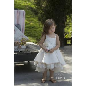 Ολοκληρωμένο πακέτο βάπτισηs με αυτό το Φόρεμα (Dolce Bambini #Κ482-5-190#) Με βαλίτσα rain η παγκάκι θρανίο Δωρεάν μεταφορικά