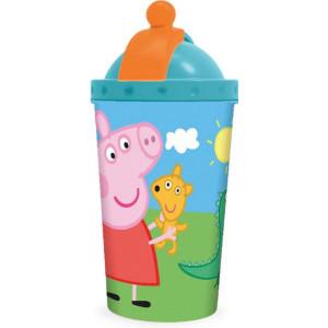 Παγούρι Peppa πλαστικό με καλαμάκι 450ml (#760.239.014#)