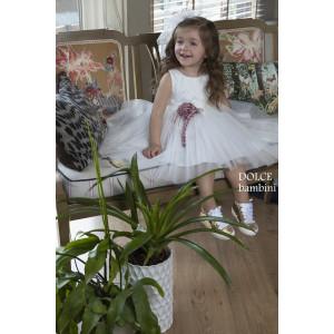 Ολοκληρωμένο πακέτο βάπτισηs με αυτό το Φόρεμα (Dolce Bambini #Κ484-1-146#) Με βαλίτσα rain η παγκάκι θρανίο Δωρεάν μεταφορικά
