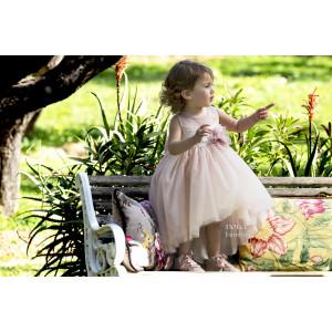 Ολοκληρωμένο πακέτο βάπτισηs με αυτό το Φόρεμα (Dolce Bambini #Κ488-8-180#) Με βαλίτσα rain η παγκάκι θρανίο Δωρεάν μεταφορικά