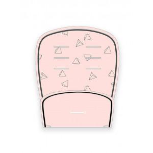 Στρωματάκι Καροτσιού Minene Διπλής Όψης Πικέ 3D Pink Triangle Κωδ.563.001.021